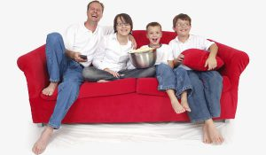 red-sofa-family